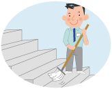 階段などの清掃