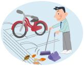 駐輪場の清掃
